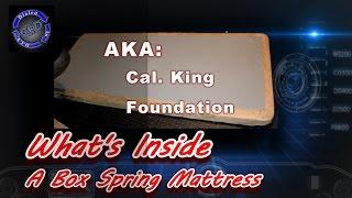 Whats Inside a Box Spring Mattress - Foundation