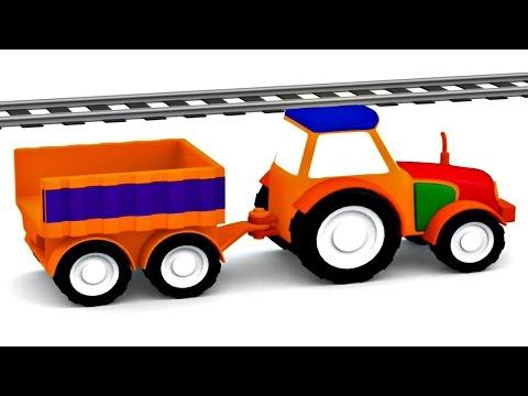 Lehrreicher Zeichentrickfilm Die 4 Kleinen Autos Traktor