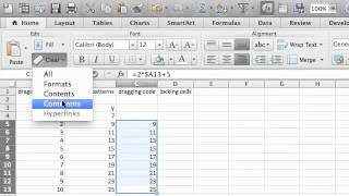 2.1 Dragging Code & Numbers in Excel