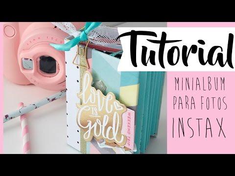 Tutorial: miniálbum para fotos Instax