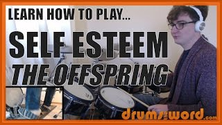 ★ Self Esteem (The Offspring) ★ Drum Lesson PREVIEW | How To Play Song (Ron Welty)