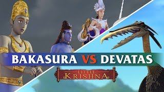 Bakasura vs Devatas   Little Krishna HD
