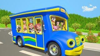 Wheels On The Bus | Kindergarten Nursery Rhymes Songs For Kids | Cartoons By Little Treehouse