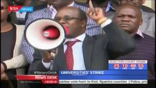 University staff vow not to return to work until CBA is implemented