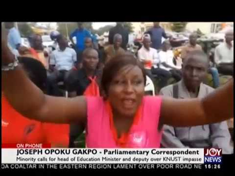 Minority calls for head of Education Minister and deputy over KNUST impasse (29-10-18)