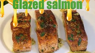 How to make Salmon Glazed with Brown butter lemon sauce