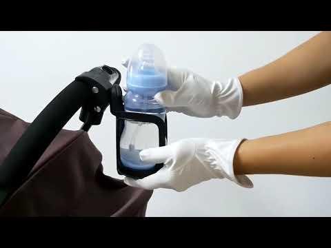 Подстаканник на коляску / велосипед универсальный диаметром 7 – 8 см и вращением на 360° Cup Holder (СН-21092) Video #1