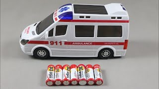 Toy Ambulance for Kids ! learning Name & Sound with White Color Toy Ambulance !Learn Colors & Number
