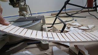 How to bend baseboard molding. Как изогнуть плинтус