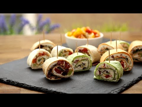 Appetizer Recipes – How to Make Party Pinwheels