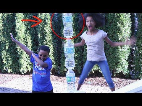 WATER BOTTLE FLIP CHALLENGE! - Onyx Adventures