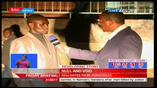Kiambu residents react to Jubilee's Sec gen Raphael Tuju's announcement of nomination cancellation