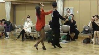 社交ダンス チャチャチャ 優勝 第14回ヤングサークル10ダンス選手権 2016/01/10