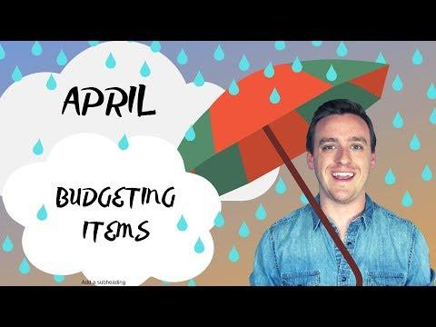 April Budgeting Items