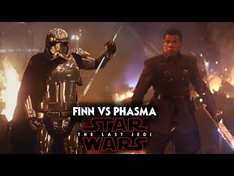 Star Wars The Last Jedi Trailer - Finn vs Captain Phasma & More!