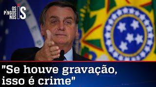 Bolsonaro volta a criticar Barroso e Luis Miranda
