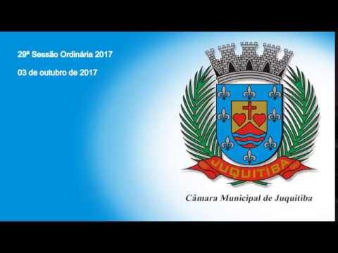 Câmara Municipal de Juquitiba - 29ª Sessão Ordinária - 2017