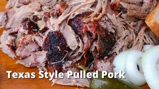 Texas Style Pulled Pork | Easy Pork Butt Recipe for Pulled Pork Smoked on Big Green Egg