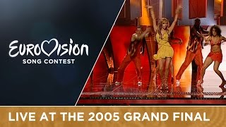 Javine - Touch My Fire (United Kingdom) Live - Eurovision Song Contest 2005