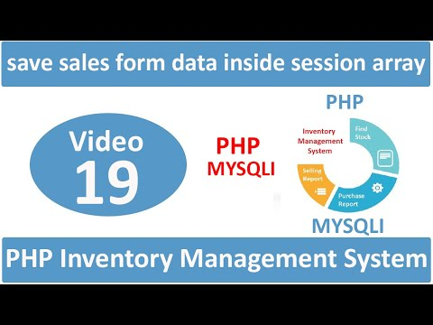 how to save sales data inside session array in admin side in php ims