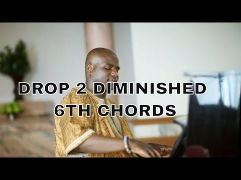 """Barry Harris Drop 2 block diminished 6th chords Simplified , """"How high the moon"""" Jazz Harmony"""