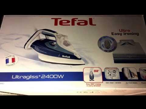 Tefal FV4680 Dampfbügeleisen Ultragliss türkisblau unboxing und Anleitung