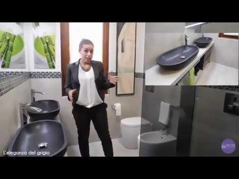 Ristrutturazione bagno completo mosaico doppio lavabo
