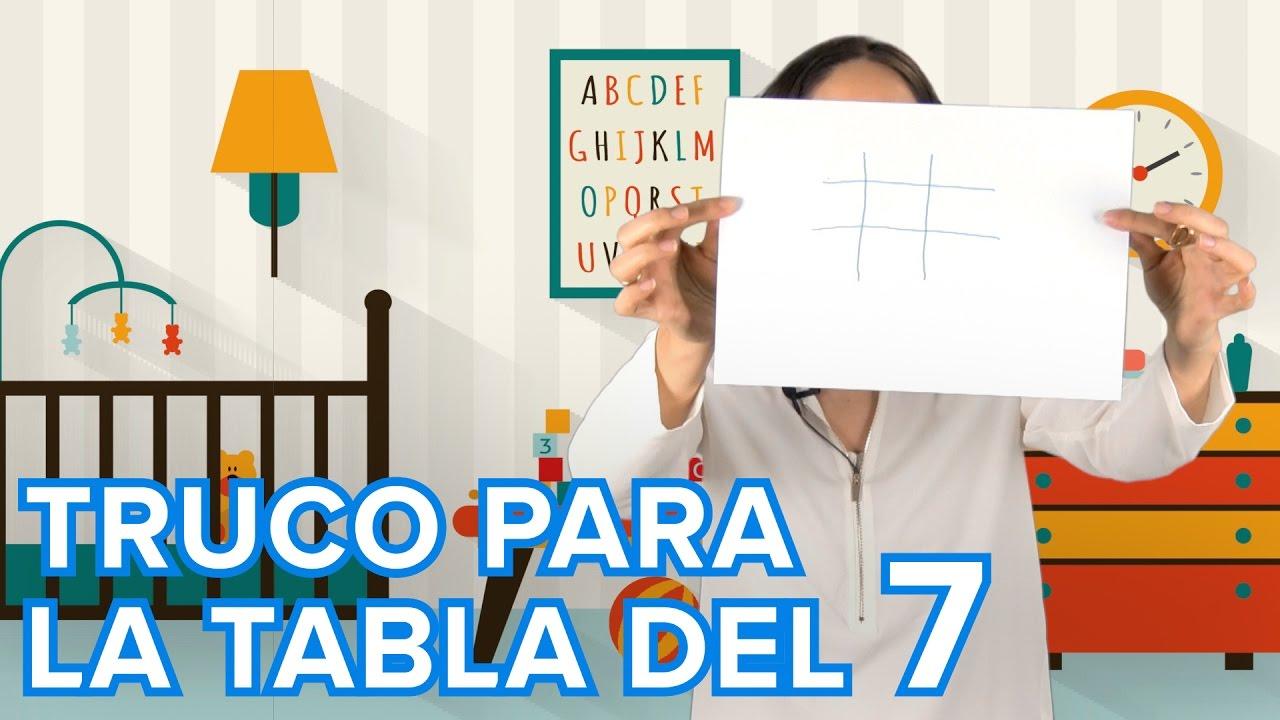 Truco de la tabla de multiplicar del 7 | Matemáticas para niños
