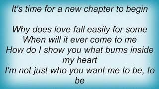 Anthony Callea - A New Chapter Lyrics