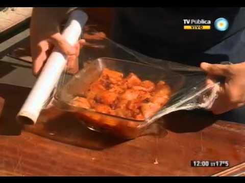 Pinchos de pollo especiado