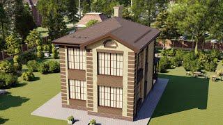 Проект дома 131-C, Площадь дома: 131 м2, Размер дома:  8,9x10,9 м