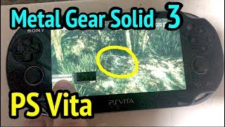 PS Vita Running Metal Gear Solid 3: Snake Eater (Metal Gear Solid HD Collection)
