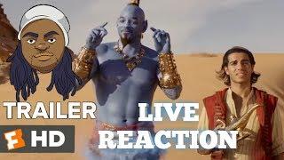 ALADDIN TRAILER #2 LIVE REACTION