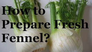 How to prepare fennel – French cooking basics