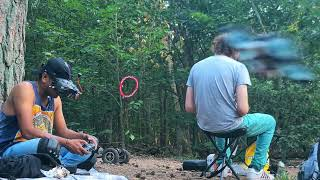 In the forest Electric skateboard & FPV drone chilling
