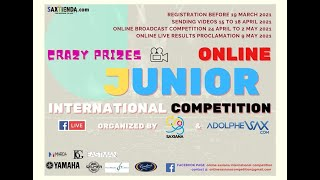 (VIDEO) SAXIANA-ADOLPHESAX JUNIOR COMPETITION. ADOLPHESAX LIVE STREAMING. Friday 30th may. 16:00h