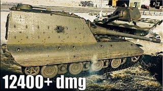 Jagdpanzer E 100 бой 🌟 12400+ dmg карта: Клондайк 🌟 World of Tanks лучший бой на пт яга е 100