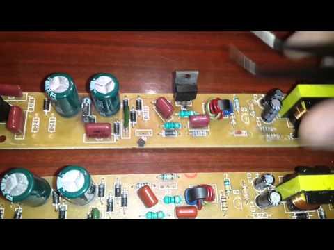 Ремонт электронного балласта люминесцентных ламп 092B-J