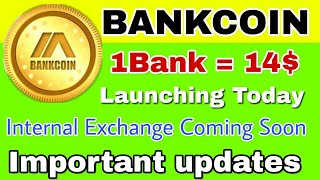 Bank coin going to launch their internal exchange, Be ready to Buy/Sell and trade your Bank coin |