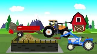 Мультфильмы. Вася Пьяточкин - сбор урожая кукурузы на ферме.