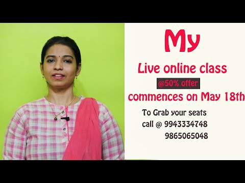 Online Spoken English Course in Tamil Details - English lessons by Malar