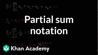 Partial Sum Notation