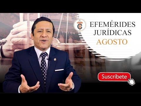 EFEMÉRIDES JURÍDICAS: AGOSTO - TC169