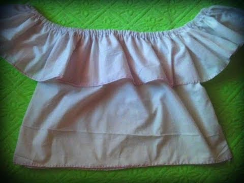 DIY Blusa Campesina (Facil, Rapido y sin maquina de coser)