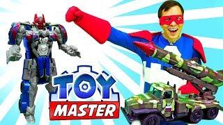 Видео шоу ТойМастер - Игры гонки: Трансформеры и машинки!