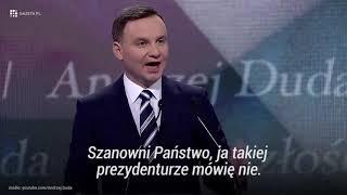Internet nie zapomina Panie Andrzeju ;)