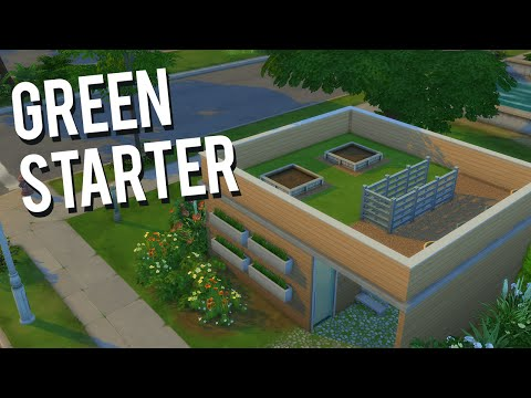 The Sims 4 Speed Build — Green Starter Home