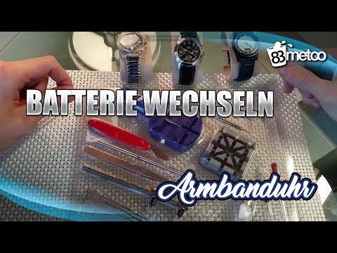 Armbanduhr Batterie wechseln  - Anleitung für alle Uhrtypen / Verschlussdeckel