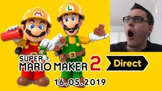 Reaction: Super Mario Maker 2 Direct Vom 16. Mai 2019!