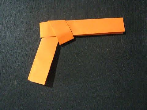 How To Make A Paper Gun Colt _ Origami